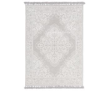 Alfombra artesanal de algodón con borlas Salima, 200 x 300 cm