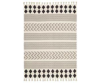 Alfombra en algodón tejida a mano Edna, 120 x 180 cm
