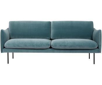 Sofá de terciopelo Moby (2 plazas)
