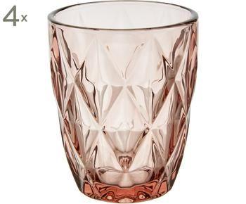 Set di 4 bicchieri acqua Colorado, 8x10 cm