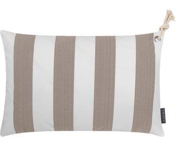 Gestreifte Outdoor-Kissenhülle Santorin, B 40 x L 60 cm
