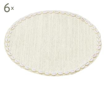 Set de 6 manteles individuales Seashells