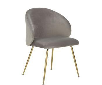 Set de 2 sillas tapizadas en terciopelo Luisa