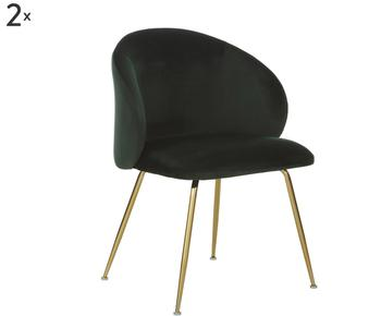 Set de 2 sillas tapizadas Luisa