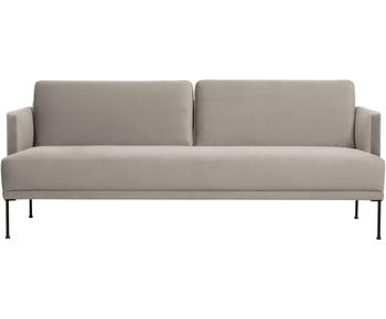 Sofá de 3 plazas en terciopelo Fluente