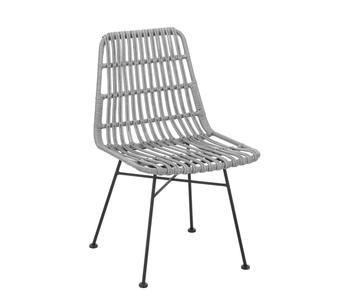 Set de 2 sillas de poliratán Costa