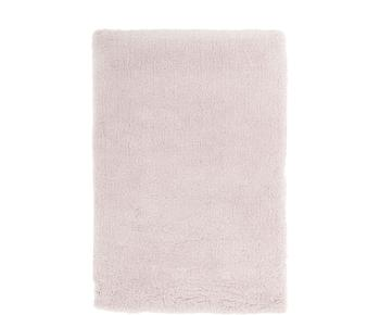 Pluizig hoogpolig vloerkleed Leighton in roze, Maat M