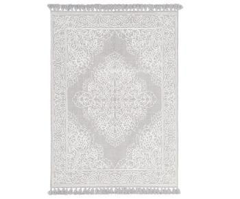 Handgeweven katoenen vloerkleed Salima met kwastjes, 200 x 300 cm