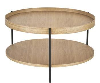 Table basse avec espace de rangement RENEE - H39