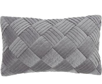 Funda de cojín de terciopelo texturizada Sina, 30 x 50 cm