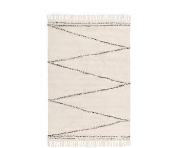 Alfombra artesanal de algodón Asisa, 120 x 180 cm
