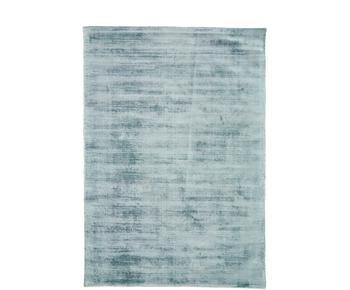 Tapis bleu glace en viscose tissé main Jane, 160 x 230 cm