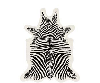 Handgetuft wollen vloerkleed Savanna Zebra, Maat X