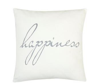 """Povlak na polštář """"Happiness"""", 40 x 40 cm"""
