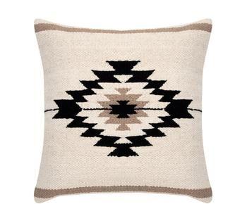 "Povlak na polštář ""Toluca black Beige Taupe"", 45 x 45 cm"