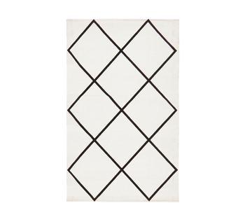 Handgewebter Baumwollteppich Farah, 50 x 80 cm