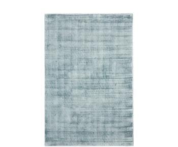 Tapis bleu glace en viscose tissé main Jane, 200 x 300 cm