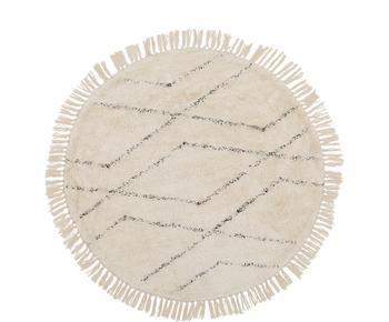 Handgetufteter Baumwollteppich Bina, Ø 110 cm